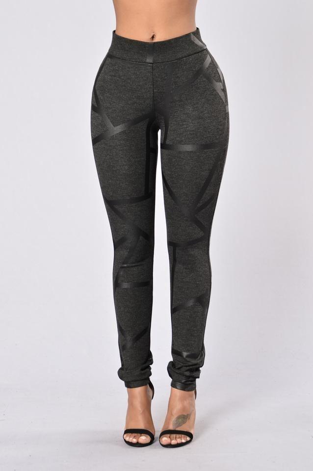 Criss Cross Legging - Charcoal