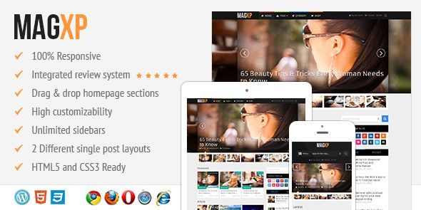 MagXP - Ultimate Flexible Responsive Magazine WordPress Theme with Multiple Layout