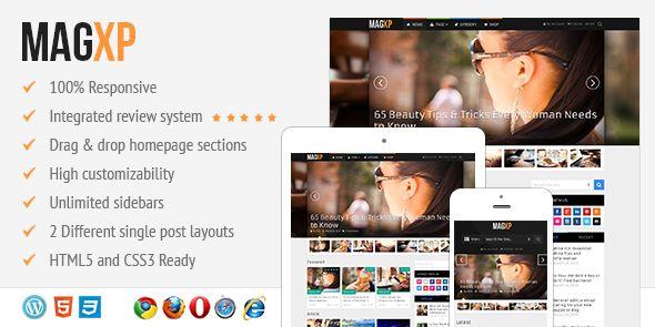 MagXP - Ultimate Flexible Responsive Magazine WordPress Theme with Multiple Layout