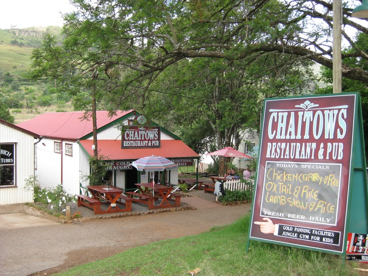 Chaitows Restaurant & Pub, Pilgrim's Rest. South Africa
