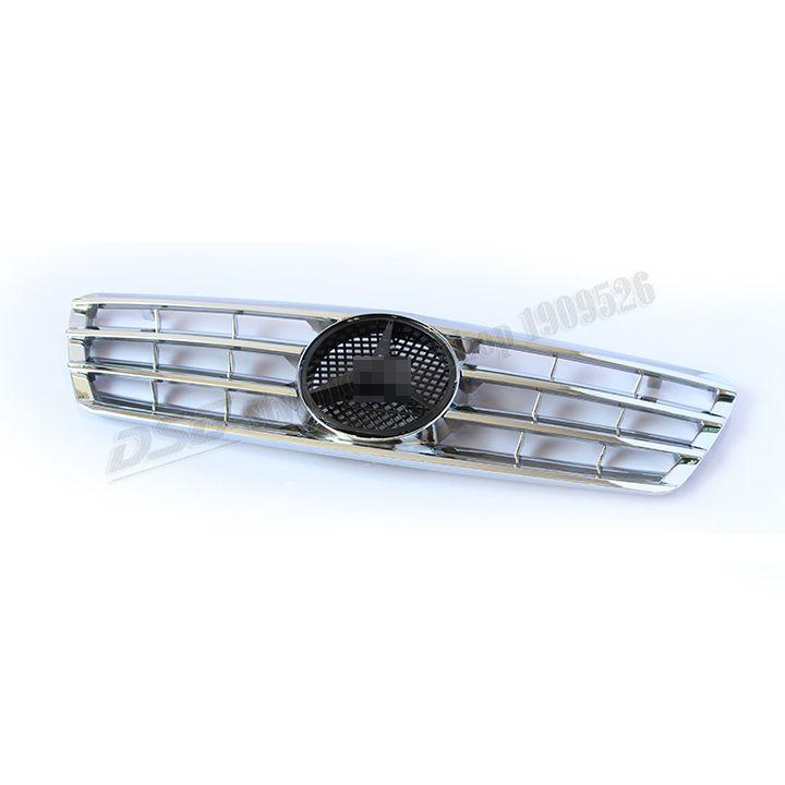 Stylish ABS W203 Emblem Front Bumper Grille for Benz 00 06 W203 C180 C200 C220 C240 C270 C280 C320 C350