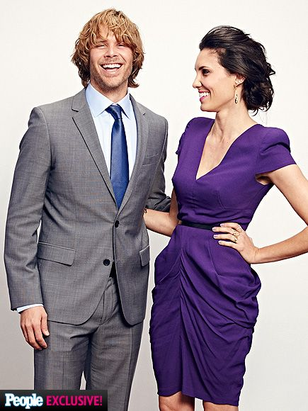 Stars Get Snapped in the People's Choice Awards Photo Booth | ERIC CHRISTIAN OLSEN & DANIELA RUAH | They're off the clock! The presenters and NCIS: Los Angeles costars get out of their detective gear and glam it up backstage. They make a great couple.