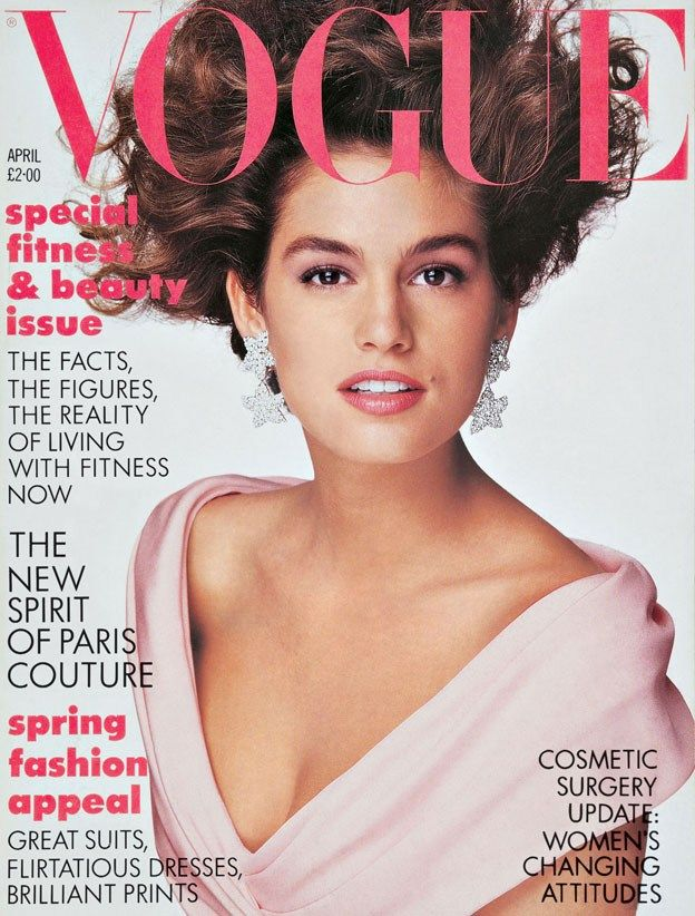 Cindy Crawford by Patrick Demarchelier Vogue UK April 1987