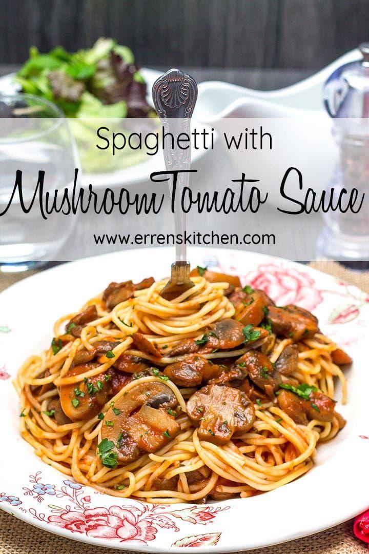 Spaghetti With Mushroom Tomato Sauce