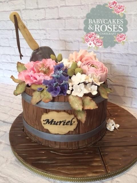 Flower Pot Cake - Cake by Babycakes & Roses Cakecraft