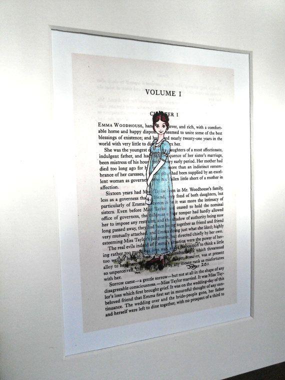 Emma Jane Austen Emma Woodhouse 5 x 7 print by CastleOnTheHill
