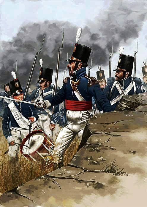 Battle of Los Arapiles (or Battle of Salamanca), 22 July 1812. Soldiers from…