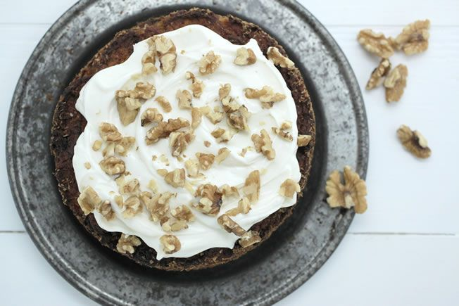 A truly healthy carrot cake. Cant wait to try it out. I really like this site as well so might use it more often!