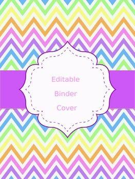 FREE Chevron Binder Cover (EDITABLE)                                                                                                                                                                                 More