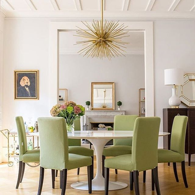The ideal dining room set up by @tomakeahome featuring #IKEA Henriksdal chairs with #BemzDesign covers