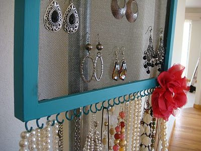 magenta and lime: Jewelry Frame DIY