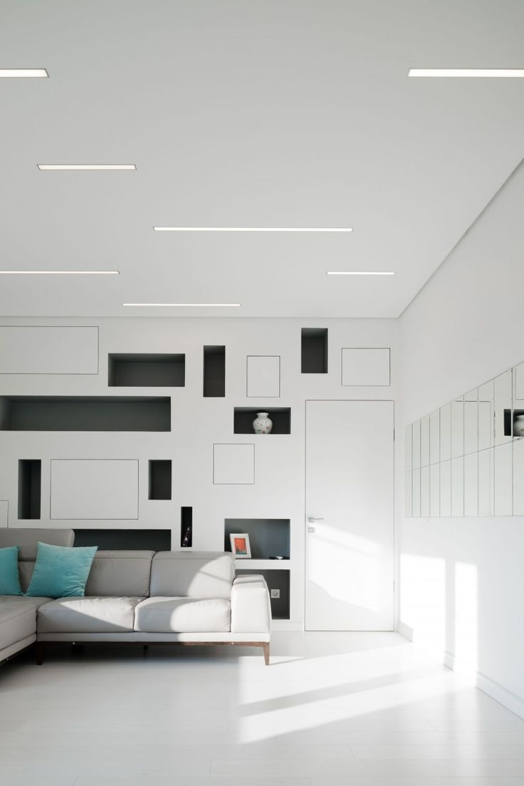 recessed ceiling lighting ideas. a clean white and spacious apartment in moscow recessed ceiling lightsliving room ideaslighting lighting ideas b