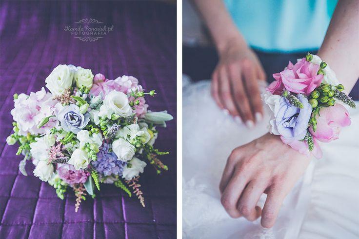 Violet wedding flowers / Fioletowe kwiaty ślubne | Kamila Panasiuk Fotografia ślubna