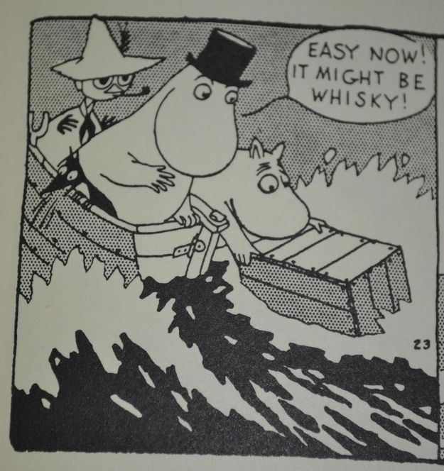 Easy now, it might be whiskey!
