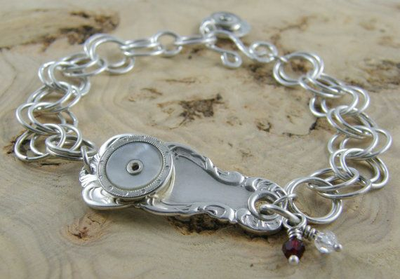 Sterling Silver Bracelet with Antique Sterling by LayaliJewelry  $95.00 USD