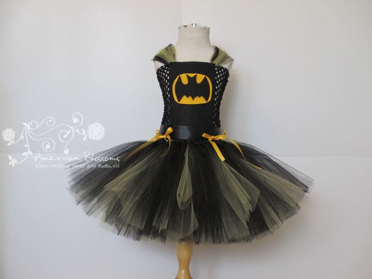 Bat Girl Costume Batgirl Tutu Dress Girls by AmericanBlossoms, $50.00