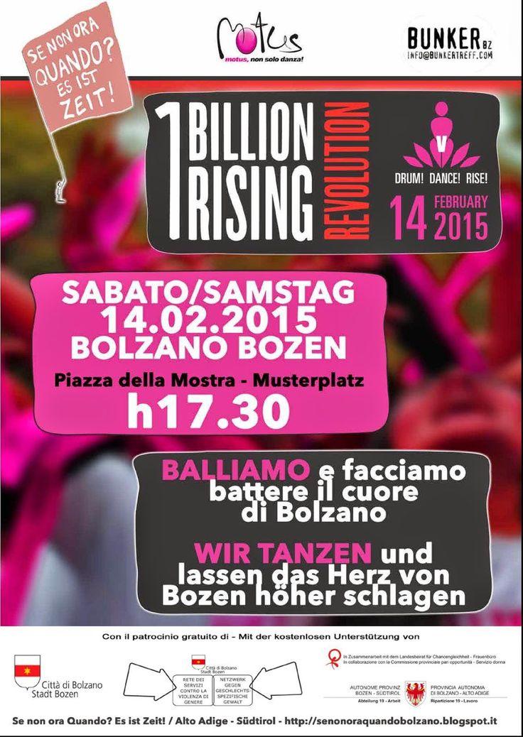 Se non ora Quando? Es ist Zeit! / Alto Adige - Südtirol: APPUNTAMENTO OBR 14 febbraio 2015 ore 17.30 BOLZAN...