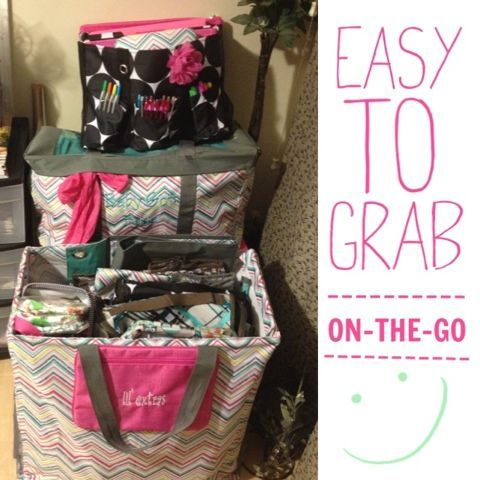 ATTENTION CONSULTANTS: GOT A PARTY COMING UP WITH TOO MUCH TO PACK? CHECK OUT HOW I CARRY 50+ PRODUCTS TO A PARTY. L-R: Large Utility Tote, Organizing Utility Tote & Room for Two Utility Tote  -organi