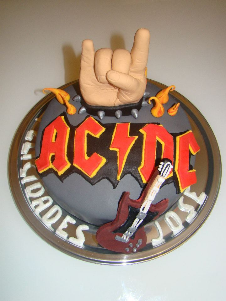 17 Best Images About Cake Acdc On Pinterest 50th