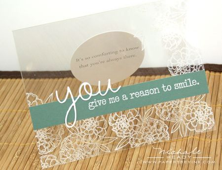 I need to use clear cardstock more often. Bazzill sells it! www.bazzillbasics.com
