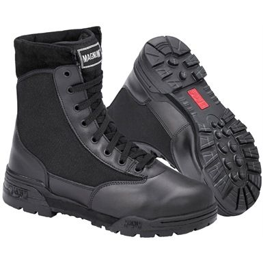 "The Magnum Classic CEN Boots are a best selling footwear product. These 8"" high Non-safety Boost are lightweight and provided comfort, performance and durability on long days. Their ergonomic design have a heat and cold resistant outsole which provides excellent comfort in all weathers."