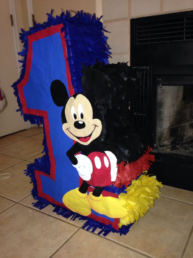 My homemade Mickey Mouse pinata for my son's birthday.