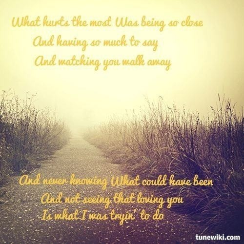Rascal Flatts What Hurts Most