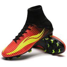 8e26797c0900e Nueva llegada 2016 mens Sufei Superfly FG Alta del tobillo botines de Fútbol  botas de fútbol V Voltios Total Carmesí Rosa Explosión tacos(…