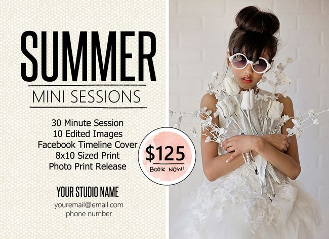 FREE Mini Session Marketing Template for photographers ...