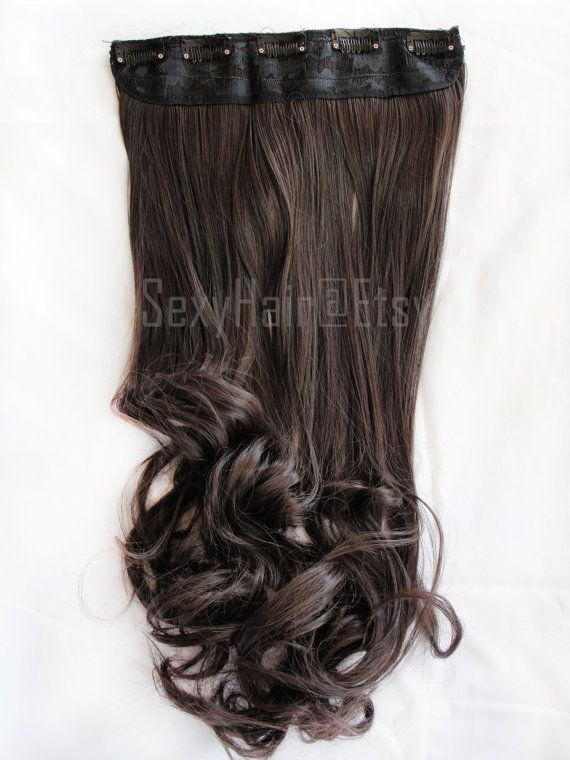 Medium Brown (4) One Piece Multi-Weft Clip in Extension - Volume and Length