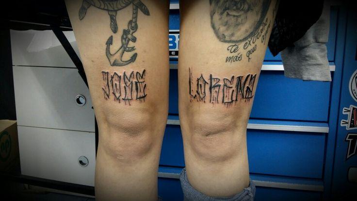 #letras # Chicano #tattoo #ink #rodillas #holyfamilytattoostudio