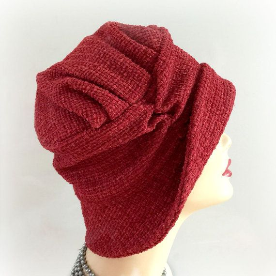Red Winter Cloche Women's Winter Fashion The by TheWaughdrobe