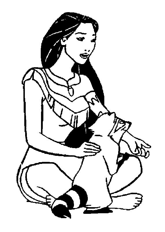 pocahontas and meeko coloring pages - photo#28