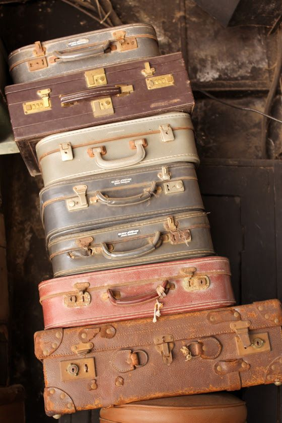 Old suitcases & valises found at Chor Bazaar Mumbai