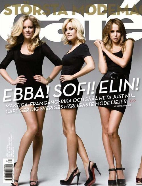 I was featured on the cover of Café Magazine / Ebba von Sydow / also seen here: Sofi Fahrman and Elin Kling