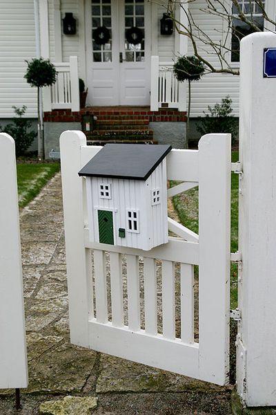Postkasten Wildlife Garden WG309 weiß Briefkasten Holz Metall Mailbox