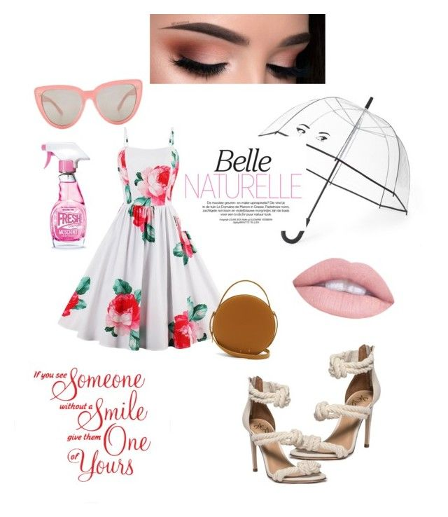 """southernbelle"" by niania-long on Polyvore featuring Kate Spade, PB 0110, Moschino, Quay and L.A. Girl"