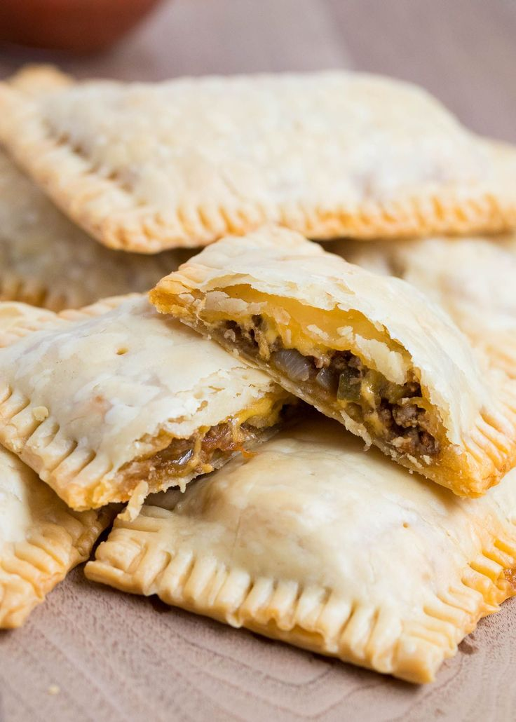 Taco Pop Tarts ...AKA mini taco pies are one of my families favorite! The flaky crust, seasoned meat, cheese and fresh salsa give these such amazing flavor!