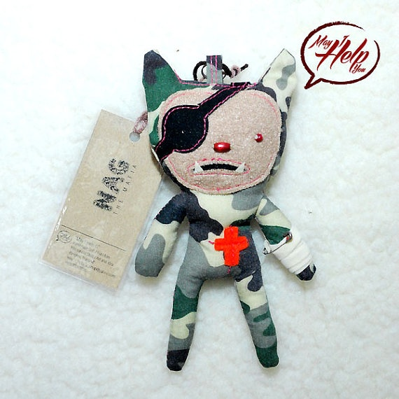 08 Nag The Mafia 9 Lives Cat Project  Handmade Doll / by MayIHelpU, $8.00