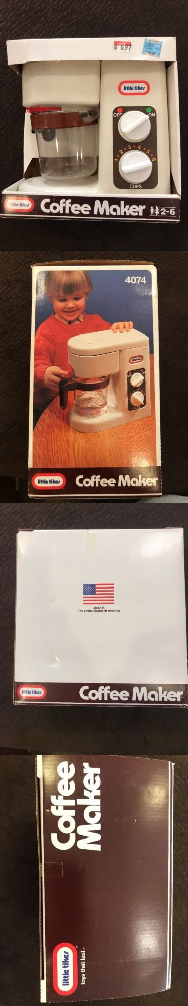 Child Size 2574: Vintage Little Tikes Coffee Maker New In Package Sealed Play Pretend Kitchen -> BUY IT NOW ONLY: $39.99 on eBay!