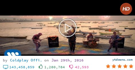 Download Coldplay videos mp3 - download Coldplay videos mp4 720p - youtube to mp3 online...