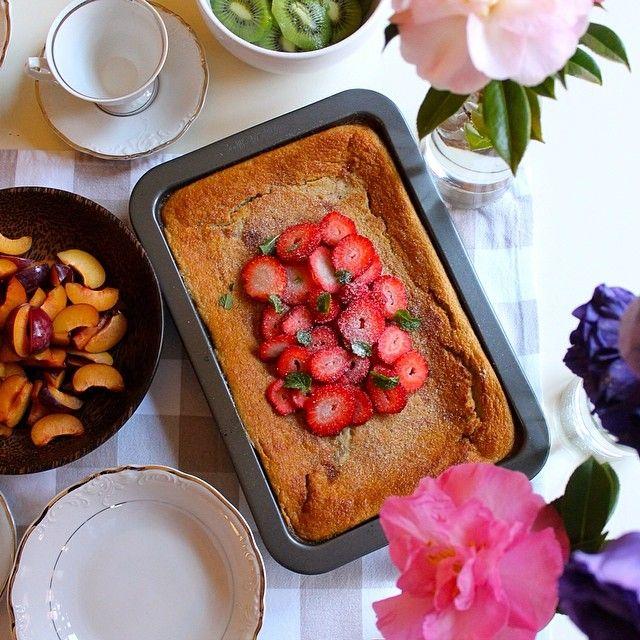 Almond baked pancake