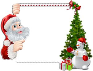Large_Christmas_PNG_Frame_with_Santa_and_Snowman.png