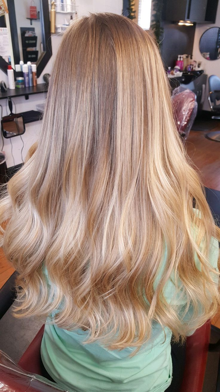 Balayage honey blonde/blonde — The Hair Station