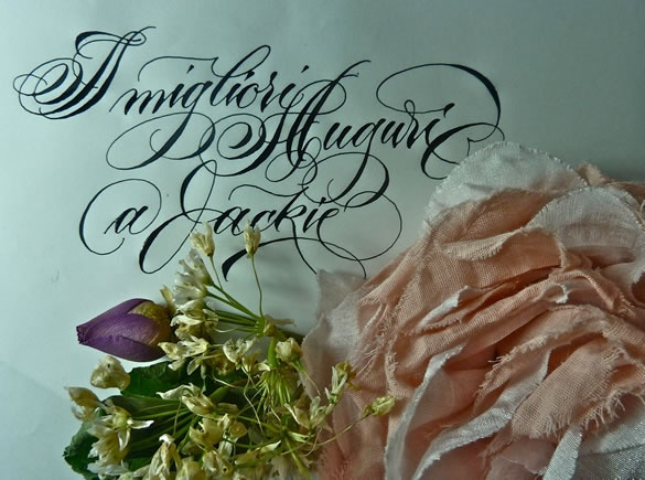 Barbara Calzolari | Gentle People - Italy - Calligraphy - www.gentlepeople.it