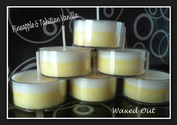 Pineapple & Vanilla Scented Tea Lights