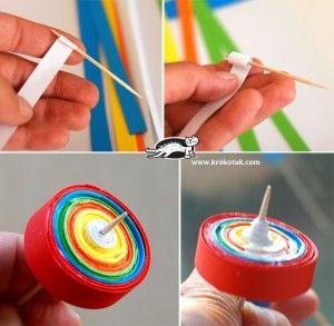* Tol van papier, makkelijk te maken en doet het prima!