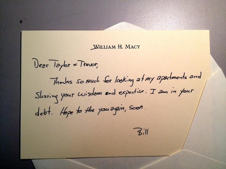William H Macy sent my business partner