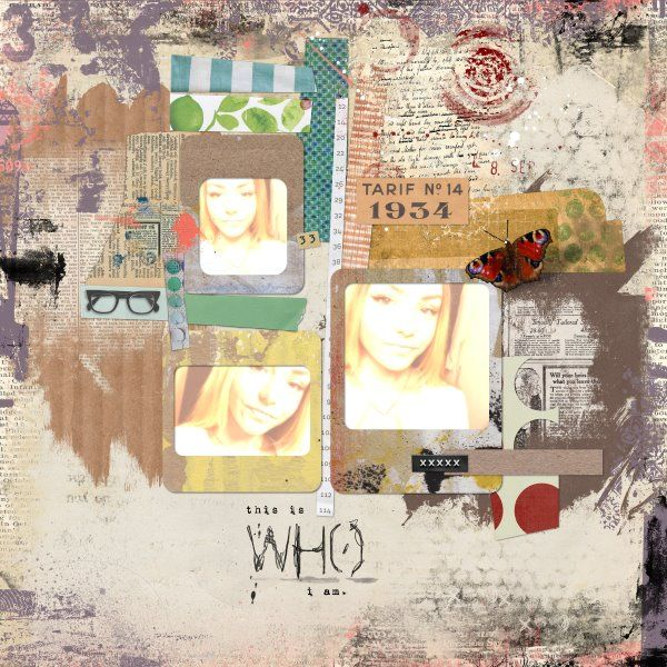 Template AprilGina Miller free template for the April challenge, Mixed Media Borders Pack by Sissy Sparrows, Anything Goes Papers Vol4 by Sissy Sparrows, Constructors Vol.2 by Sissy Sparrows, Just My Type Mini Art Journal Kit by Sissy Sparrows.