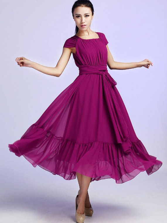 Hey, I found this really awesome Etsy listing at https://www.etsy.com/listing/56727357/purple-chiffon-maxi-dress-626
